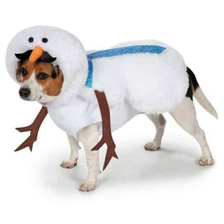 Casual Canine Polyester Mustache Snowman Dog Costume