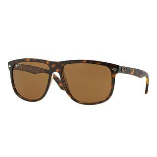 Ray-Ban Men's RB4147 Tortoise Plastic Square Polarized Sunglasses