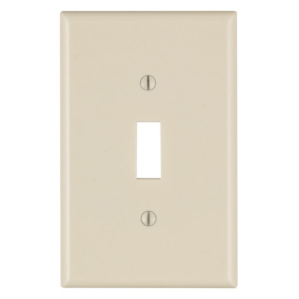 Leviton 025-80501-00T 1-Gang Light Almond Toggle Device Switch Wall Plate