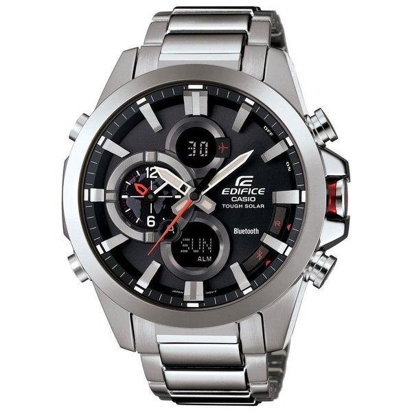 Casio Men's EQB510D-1ACR 'Edifice Bluetooth Smart' Analog-Digital Stainless Steel Watch