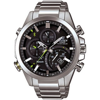 Casio Men's EQB500D-1ACR 'Edifice Bluetooth Smart' Chronograph Stainless Steel Watch
