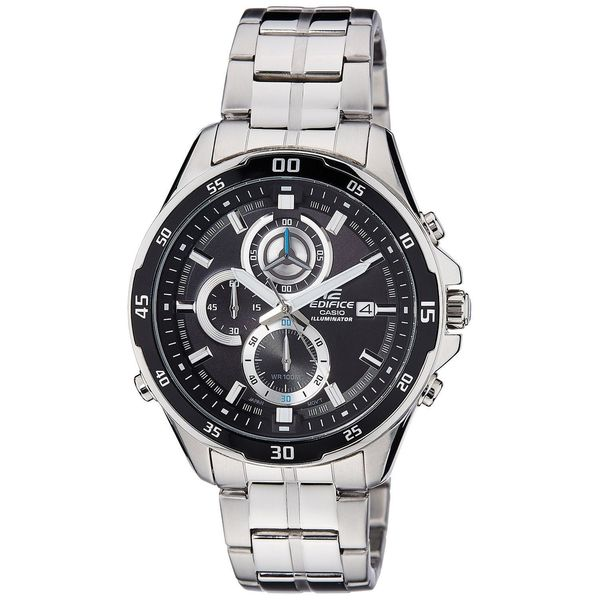 Casio Men's EFR547D-1AV 'Edifice' Chronograph Black Stainless Steel Watch
