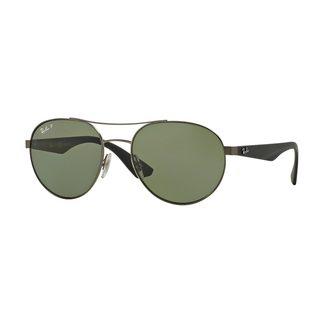 Ray-Ban Men's RB3536 029/9A Silver Metal Phantos Polarized Sunglasses