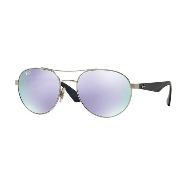 Ray-Ban Men's RB3536 Silver Metal Phantos Sunglasses