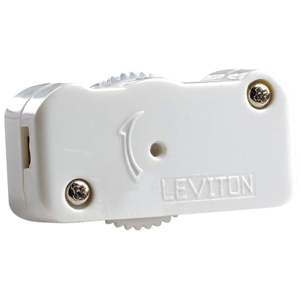 Leviton C22-01420-00W 200 Watt White Cord Dimmer Switch