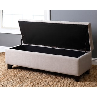 Frankfurt Tufted Wheat Linen Double Storage Ottoman