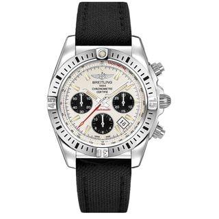Breitling Men's AB01442J-G787MS 'Chronomat GMT' Chronograph Automatic Black Canvas Watch