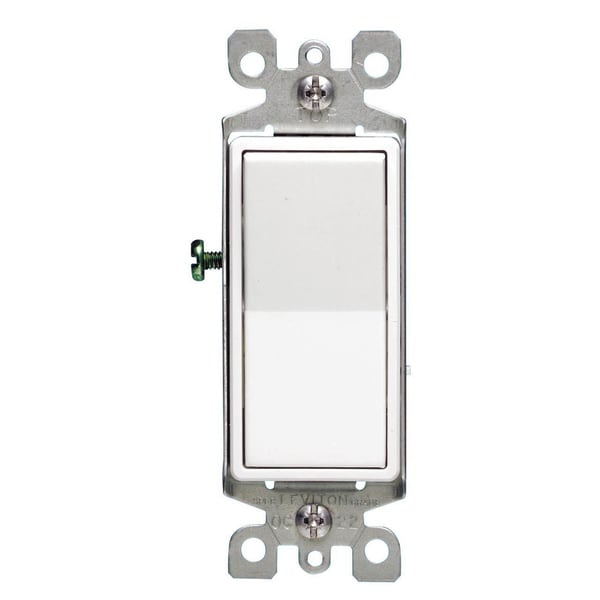 Leviton M42-05603-2WM 15 Amp White 3-Way Light Switch 5-count