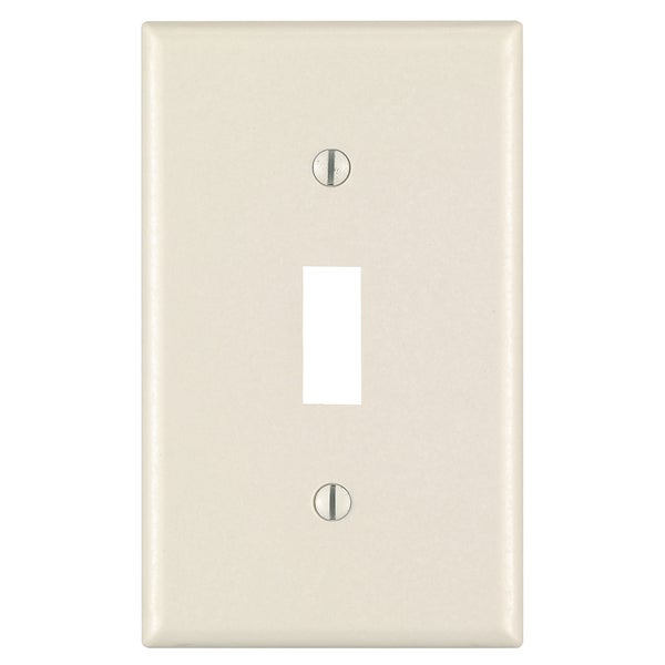 Leviton M56-78001-TMP Light Almond 1 Gang Toggle Switch Wall Plates 10-count