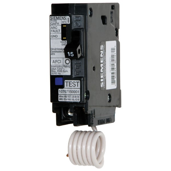 Siemens QA120AFC 20 Amp Combination Arc Fault Breaker