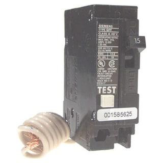 Siemens QF115 15 Amp Single Pole Ground Fault Circuit Breakers