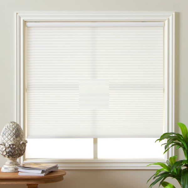 Honeycomb Cell Light-filtering Cream Cordless Cellular Shades Size 34.5 x 60(As Is Item) 19951955