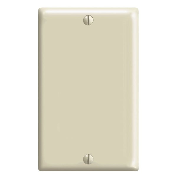 Leviton R51-0PJ13-00I 1-Gang Midway Size Ivory No Device Blank Wall Plate