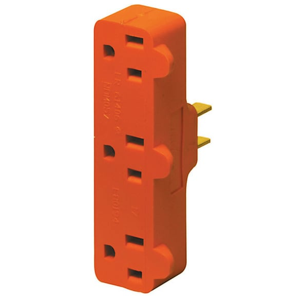 Leviton R52-00699-000 Triple Tap Plug-In Outlet Adapter
