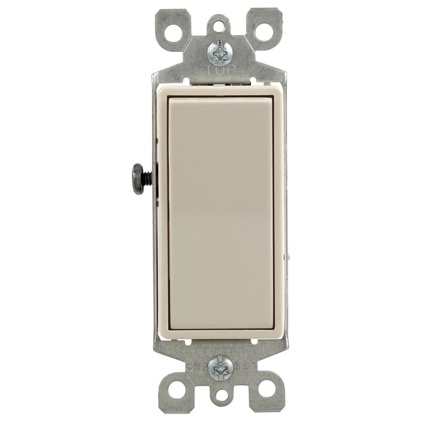 Leviton R59-05604-2TS Light Almond 4 Way 15 Amp Rocker Switch