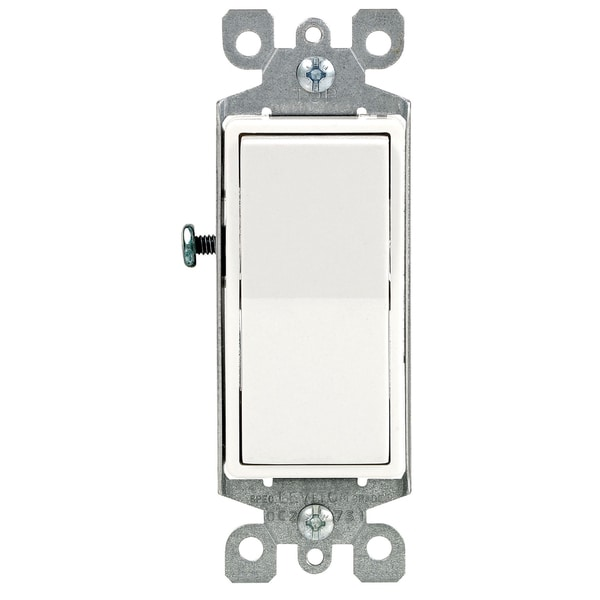 Leviton R72-05613-0WS 15 Amp White Illuminated Light Switch