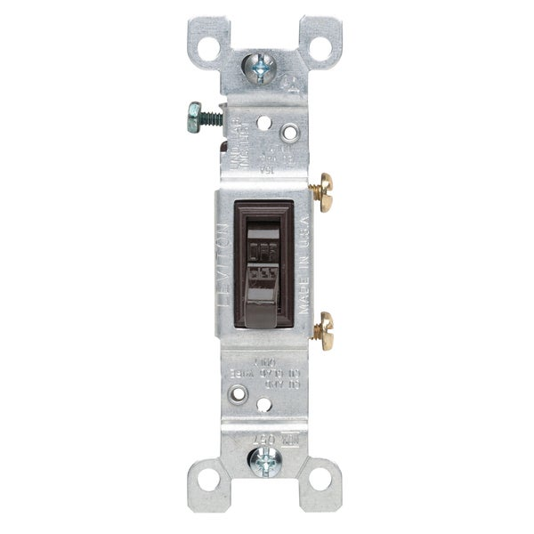 Leviton S00-01451-02S Brown Residential Grade AC Quiet Switches Toggle