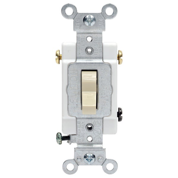 Leviton S01-CS315-2IS Ivory Commercial Grade 3-Way AC Quiet Switch Toggle