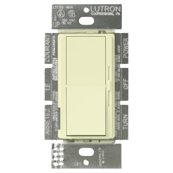 Lutron DV-600PH-AL 600 Watt Almond Push Rotary Dimmer