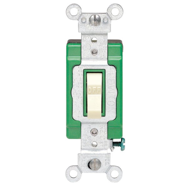 Leviton S11-03032-2IS 30 Amp Ivory Toggle Double Pole Quiet Switch