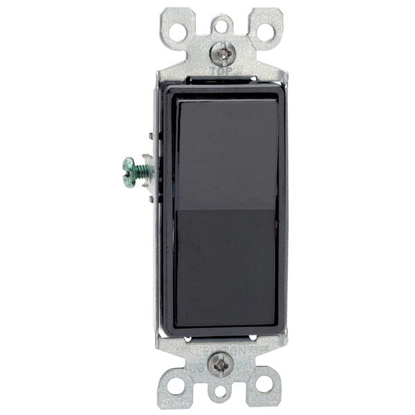 Leviton S15-5601-2E Black 15 Amp Decora Rocker Switch