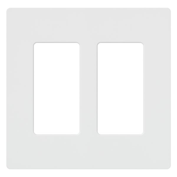 Lutron CW-2-WH 2-Gang White Wall Plate