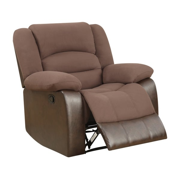 Chocolate Brown Reclining Armchair