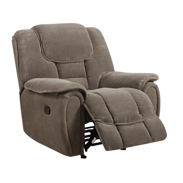 Taupe Rocking Reclining Armchair