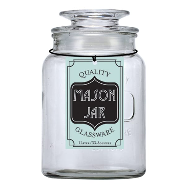 Small Glass Mason Jar Container