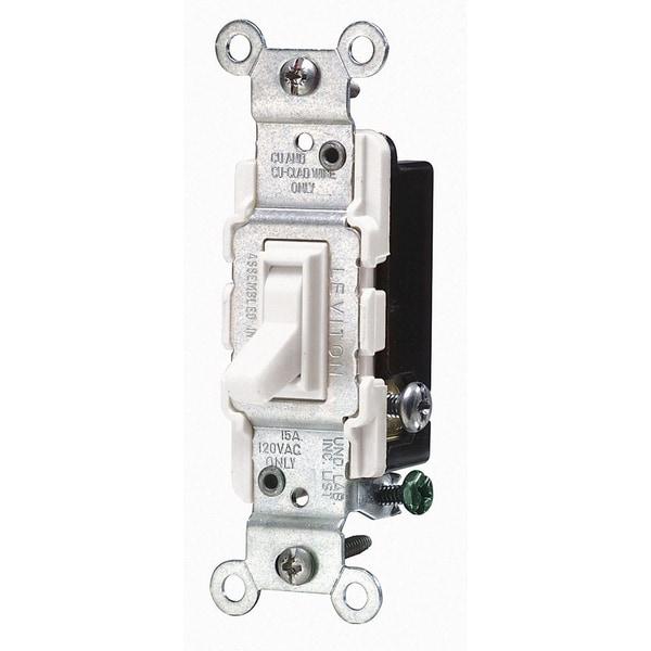 Leviton Mfg S07-CS120-02I Ivory Commercial Grade AC Quiet Switches Toggle