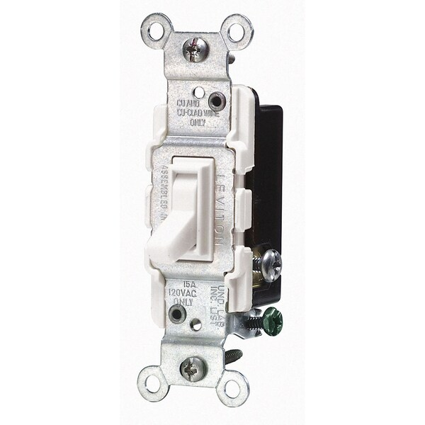Leviton Mfg S08-CS120-02W White Commercial Grade AC Quiet Switches Toggle