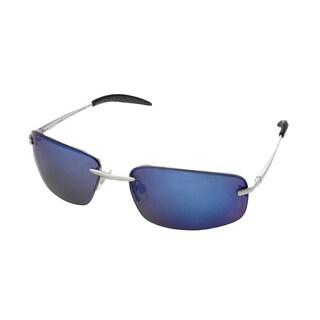 Hot Optix Men's Fashion Spring Hinge Rim-less Rectangle Wrap Sunglasses