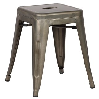 Edgemod Trattoria 18 Inch Table Stool in Bronze