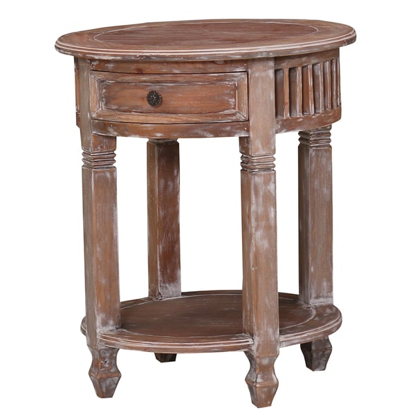 Bramble Co. Hollister Mahogany Synergy Side Table