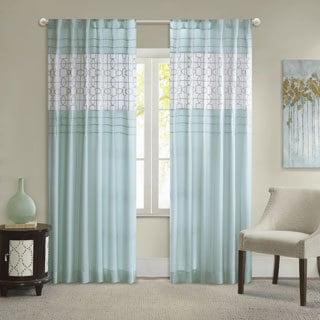 Masison Park Jeffrey Soft Touch Aqua Curtain Panel