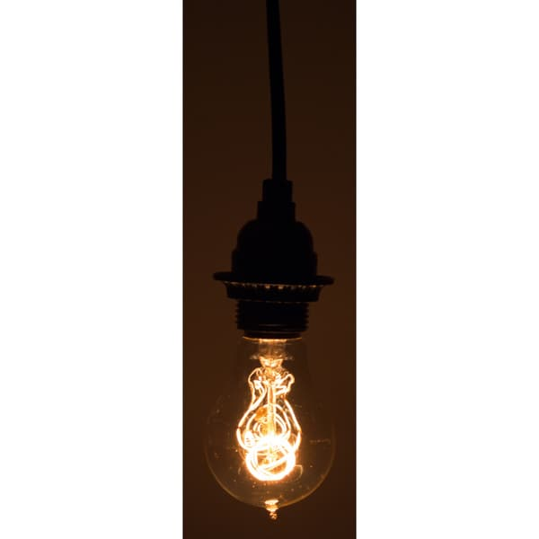 10-foot Black Vintage-style Single Light Socket