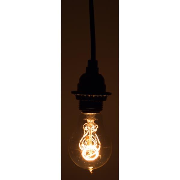 10-foot Black Vintage-style Single Light Socket