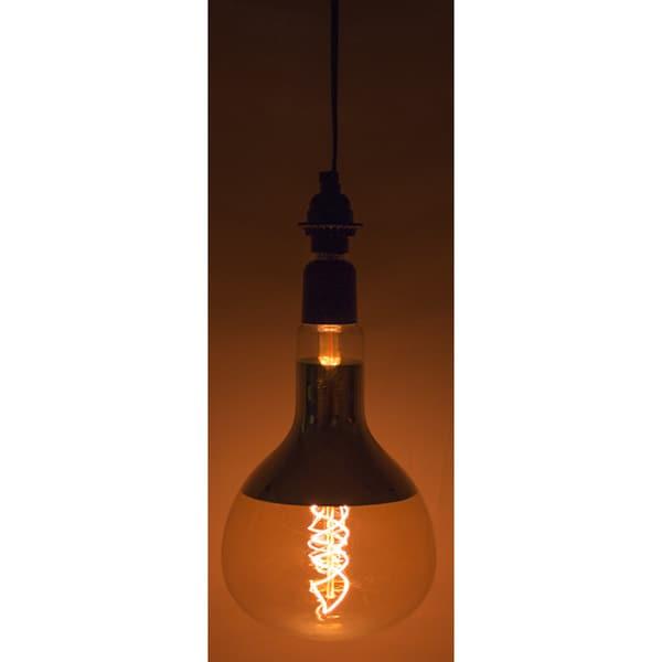Black 10-feet 60-watt Single-light Socket On/Off Switch Vintage Large Light Bulb