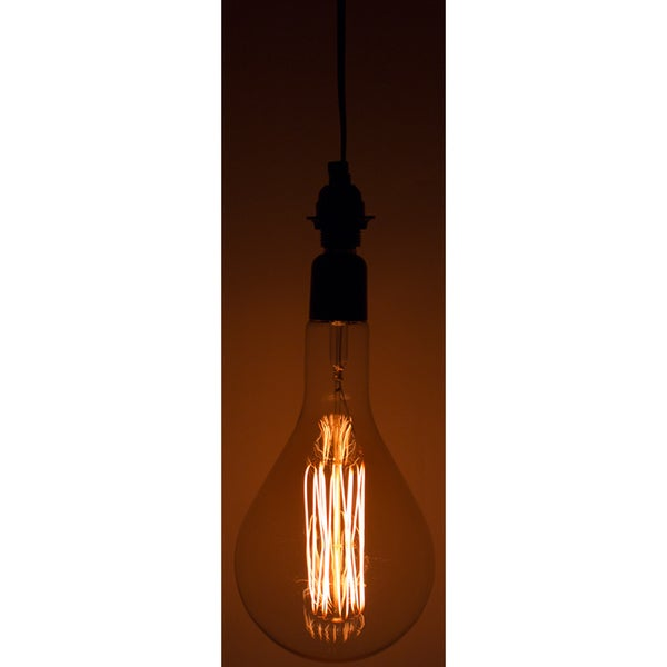 Black Single-light Socket 10-foot Long Medium-size 60-watt E26 Vintage-style Large Light Bulb Fixture with On/Off Switch