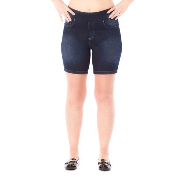 Bluberry Women's Jen Rinse Wash Plus-size Denim Shorts
