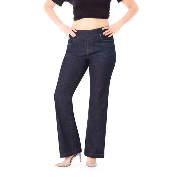 Bluberry Women's Linda Rinse Wash Bootleg Denim Jeans