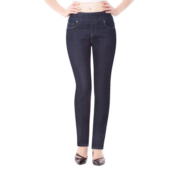 Bluberry Women's Blue Slim-leg Denim Jeans