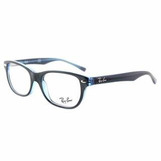 Ray-Ban RY 1555 3667 Blue-on-fluorescent-blue Plastic 48-millimeter Rectangular Eyeglasses