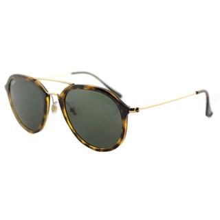 Ray-Ban Light Havana Goldtone/Green Plastic Sunglasses
