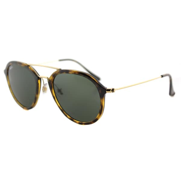 Ray-Ban RB 4253 710 Light Havana Plastic Square Sunglasses With Green Lens