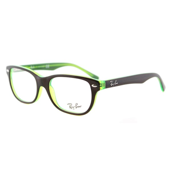 Ray-Ban RY 1555 3665 Brown-on-fluorescent Green 48-millimeter Plastic Rectangle Eyeglasses
