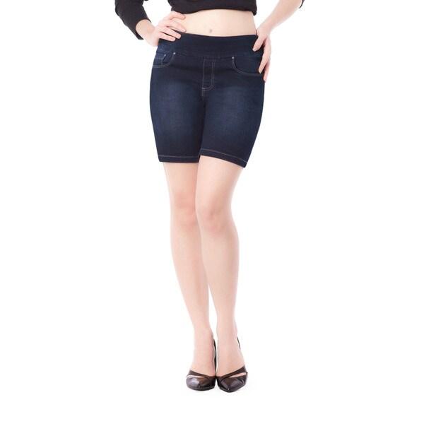 Bluberry Women's Jen Blue Denim Rinse-wash Shorts