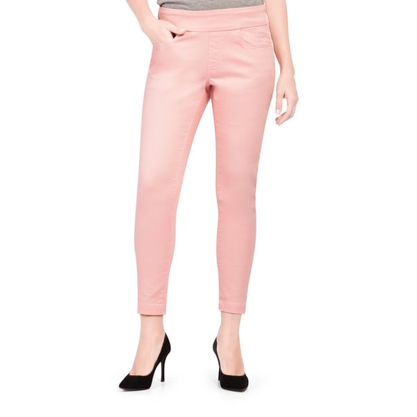 Bluberry Women's Dawn Pink Slim-leg Ankle-length Denim Pants