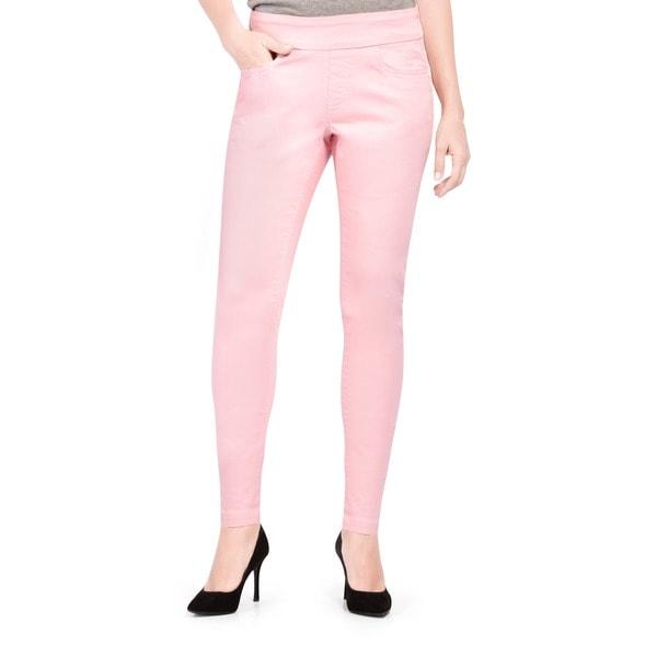 Bluberry Women's Dawn Pink Slim-leg Denim Jeans