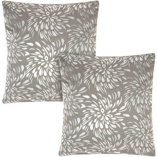 Mina Victory Luminescence Metallic Splash Silver/Grey 18-inch Throw Pillow (Set of 2) by Nourison